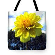 Painted Yellow Dahlia Tote Bag
