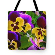Painterly Purple Pansy Tote Bag
