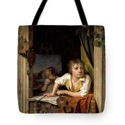 Painting And Music. Portrait Of The Artists Son Tote Bag
