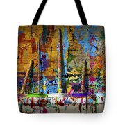 Painting Brushes At A Child's Painting Easel Tote Bag