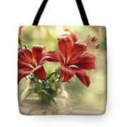 Painting Daylilies On My Window Tote Bag