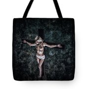 Painting Female Crucifix I Tote Bag