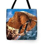 Painting Half Dome Yosemite N P Tote Bag