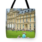 Painting In Paris Tote Bag