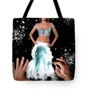 Painting In Real Life Composite Of 5 Photos Tote Bag