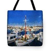 Aegina Port Tote Bag
