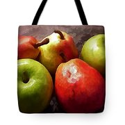 Painting Of Apples And Pears Tote Bag
