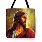 Painting Of Christ Tote Bag by John Lautermilch