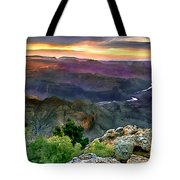 Painting Of Desert View Grand Canyon Tote Bag