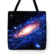 Painting Of Galaxy Tote Bag