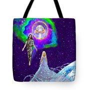 Painting Of The Rapture Of The Church Tote Bag
