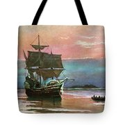 Painting Of The Ship The Mayflower 1620 Tote Bag