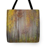 Painting Of Trees In A Forest In Autumn Tote Bag
