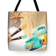 Painting Summer Postcard Tote Bag by Amanda Elwell