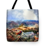 Painting The Grand Canyon Tote Bag