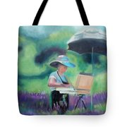 Painting The Lavender Fields Tote Bag