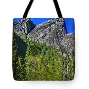 Painting Three Brothers Peaks Yosemite Np Tote Bag