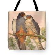 Pair Amur Falcons Tote Bag