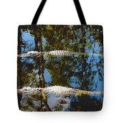Pair Of American Alligators Tote Bag