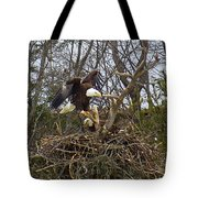 Pair Of Bald Eagles At Their Nest Tote Bag