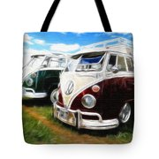 Pair Of Busses Tote Bag