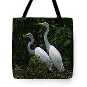 Pair Of Herons Tote Bag
