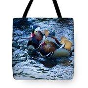 Pair Of Male Mandarin Duck-signed-#8236 Tote Bag