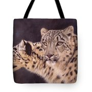 Pair Of Snow Leopards Tote Bag