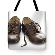 Pair Of Vintage Child Leather Shoes Tote Bag
