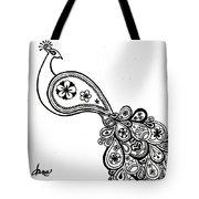 Paisley Peacock Tote Bag