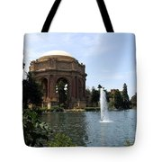 Palace Of Fine Arts And Lagoon Tote Bag