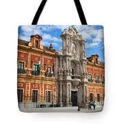 Palace Of San Telmo In Seville Tote Bag