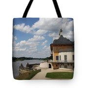 Palace Pillnitz And River Elbe Tote Bag