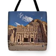 Palace Tomb In Nabataean Ancient Town Petra Tote Bag