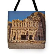 Palace Tombin Nabataean Ancient Town Petra Tote Bag