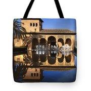 Palacio Del Partal La Alhambra Tote Bag