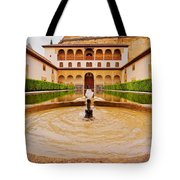 Palacios Nazaries In Granada Tote Bag