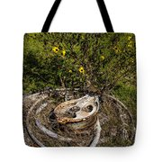 Palacios Texas Pulley Wire And Flowers Tote Bag