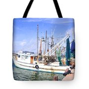 Palacios Texas Shrimp Boat Lineup Tote Bag