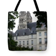 Palais In Tours With Cathedral Steeple Tote Bag