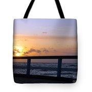Palanga Sea Bridge At Sunset. Lithuania Tote Bag