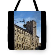Palazzo Pretorio And The Tower Of Little Pig Tote Bag