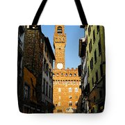 Palazzo Vecchio In Florence Italy Tote Bag