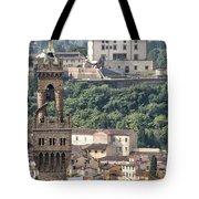 Palazzo Vecchio Tower And Forte Belvedere Tote Bag