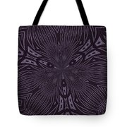 Pale Aubergine And Eggplant Abstract Pattern Kaleidoscope Tote Bag