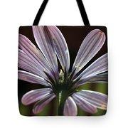 Pale Blue Flower Backlit Tote Bag