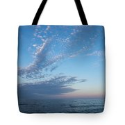Pale Blues And Feathery Clouds In The Fading Light Tote Bag