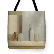 Pale Grey And Blue  Tote Bag