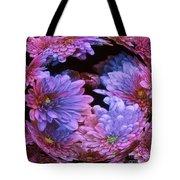 Pale Moon Flower Orb Tote Bag