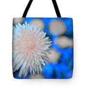 Pale Pink Bright Blue Tote Bag